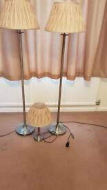 3 lamps (2 floor 1 table)