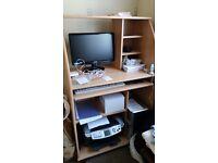Wood computer unit/desk