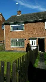 2 bed large end terrace house for rent with large garden rear patio area and garage
