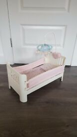 Baby Annabelle cot, high chair, car seat and swing