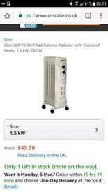 Oil filled radiator..now reduced