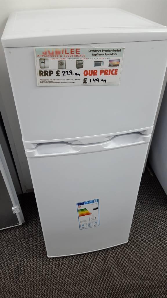 New graded Argos value fridge freezer with 12 months guarantee