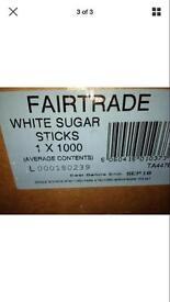 1000 white sugar sticks