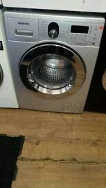 SAMSUNG 8KG 1400 SPIN WASHING MACHINE IN SILVER