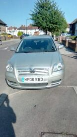 Toyota Avensis 64.465 miles,MOT due 23/09/2018, Silver,2 keys.Lovely car to drive