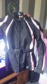 Ladies small kevlar bike jacket worn twice still brand new