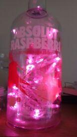 Absolut raspberri battery powered table lamp