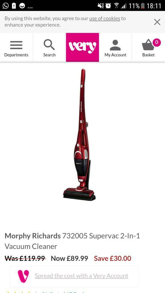 Morphy Richards Cordless Bagless Vacuum Cleaner