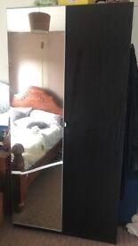 Large bedroom wardrobe with 2 doors (1 mirrored door) (IKEA)