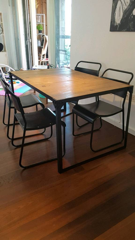 industrial dining table from maison du monde
