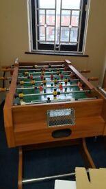 JOHN LEWIS WOODEN FOOTBALL TABLE.