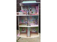 Barbie wooden tall house