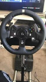 Logitech g920 with shifter and wheelstand for Xbox one