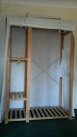 Temporary wardrobes and shelves