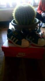 Size 4 adidas superstar trainers