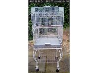 Bird Cage with stand and open top perch