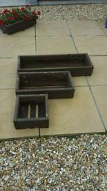 Set of 3 planter boxes