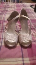 ivory bhs bridal shoes size 3