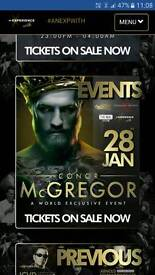 """2 tickets to attend """"a night with conor mcgregor"""""""