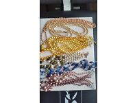 Pearl Costume Necklaces (6 individual necklaces different colours) - COLLECTION ONLY