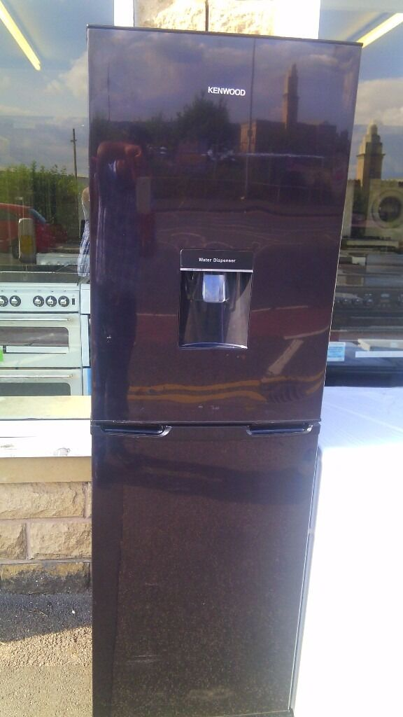 KENWOOD black With water dispenser fridge freezer, new Ex display