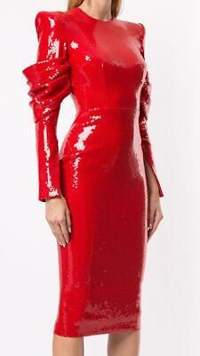"""WOW! New Tags Alex Perry """"Declan"""" red sequin dress sz 0 $2400"""