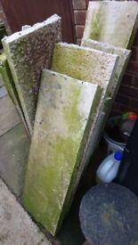 Concrete posts and plinths - BROKEN