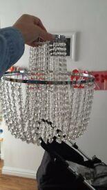 mini chandelier light fitting x 2