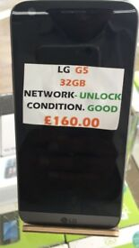 LG G5 32GB UNLOCKED CONDITION GOOD