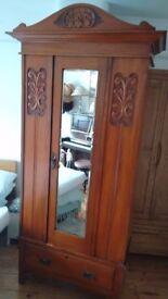 Edwardian wooden wardrobe
