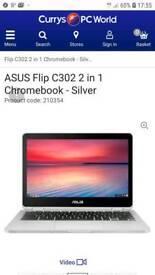 Asus chrome book laptop