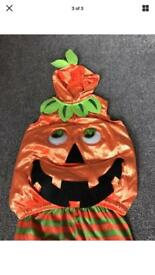 3-4 Years pumpkin Halloween outfit