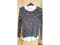 next animal print top/jumper size 14