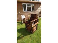 King of the garden 'Throne' Hand built from reclaimed wood