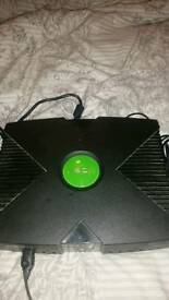 Original xbox with 5 games