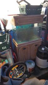 2ft fish tank and base unit