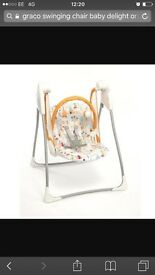 Grace baby delight swinging chair.