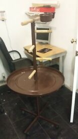 large 5ft tall parrot stand