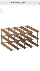 Wine racks oak & steel in various sizes