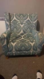 Turquoise armchair
