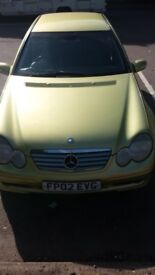 Mercedes coupe 2 door 2 litre petrol £1200