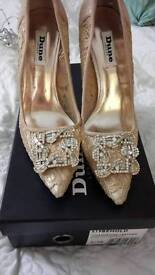 Dune gold shoes