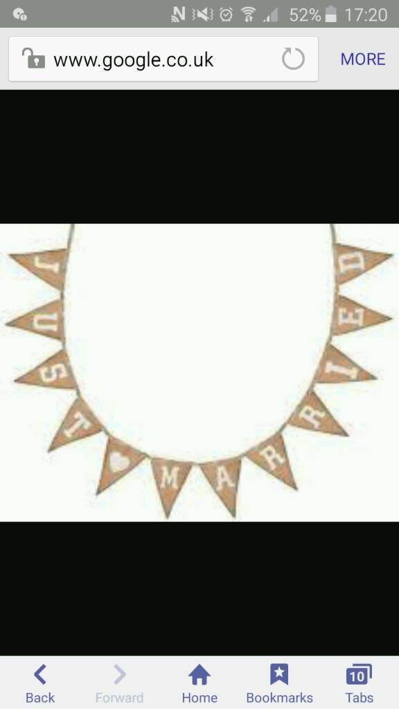 Just married bunting from the range