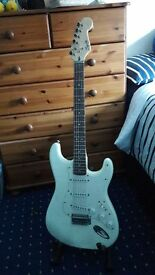 Fender Squire Stratocaster guitar + Amp