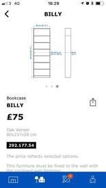 Ikea ' Billy' bookcase in mahogany