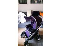 Silver Cross Freeway Linear Elegance 2in1 Pram Pushchair in Purple