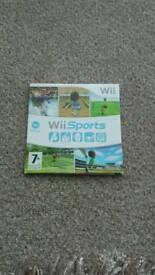 Wii game ..wii sports