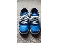 Size 1 Heeleys Blue, Black and White