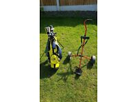 Junior kids golf clubs, bag, trolley etc