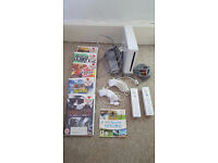 Nintendo Wii Bundle NICE SET UP 6 Games SPORTS PLAY 2 controller & Nunchucks